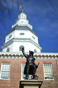 Maryland State Capitol Building in Annapolis