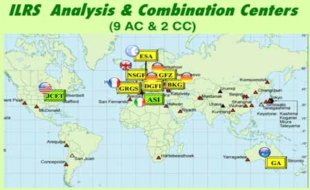 ILRS Analysis & Combination Centers (9 AC and 2 CC)